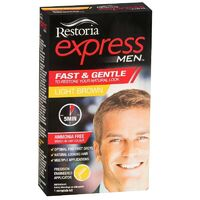 Restoria Express for Men Light Brown Brush-In Hair Colour