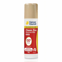 Cancer Council Classic Sunscreen Stick SPF50+ Nude 12g