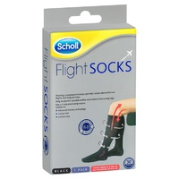Scholl Flight Compression Socks Black Size 6-9 (M6-9 / W8-10)