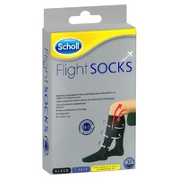 Scholl Flight Compression Socks Men Black Size 9-12 (M9-12)