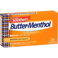 Butter-Menthol Medicated Lozenges 20 with Vitamin C