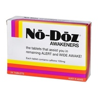 No Doz Awakeners 24 Tablets