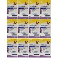 12x Abbott Freestyle Optium KETONE Test Strips (120 tests)