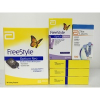 Abbott Freestyle Optium Neo + 4x Boxes Ketone Test Strips+ 1 Lancet