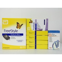 Abbott Freestyle Optium Neo Meter + 5x Boxes Ketone Test Strips + 1x Lancet