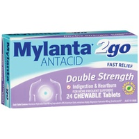 Mylanta2go Double Strength Chewable 24 Tablets