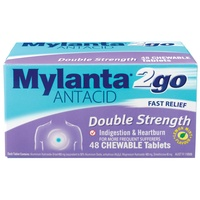 Mylanta2go Double Strength Chewable 48 Tablets