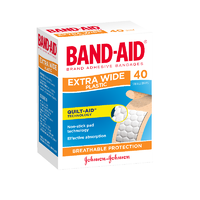 Band-Aid Extra Wide Plastic 40 Strips