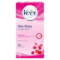 Veet Wax Strips With Easy Grip Normal Skin 20