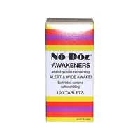 No Doz Awakeners 100 Tablets