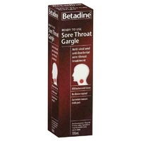 Betadine Sore Throat Ready To Use Gargle Treatment 120mL