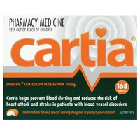 Cartia 100mg 168 Tablets