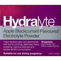 Hydralyte Powder Apple Blackcurrant 10 x 5g