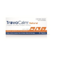Travacalm 10 Tablets Natural Ginger