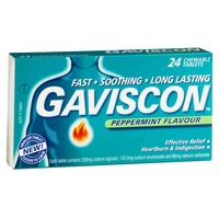 Gaviscon Tablets Peppermint 24