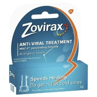Zovirax Cold Sore Cream Pump 2g