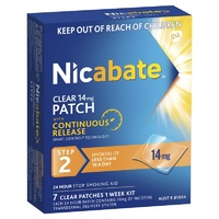 Nicabate 14mg Clear Patches 7