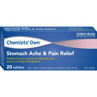 Chemists' Own Stomach Ache & Pain Relief Tablets 20