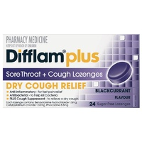 Difflam Cough Lozenges Blackcurrant 24
