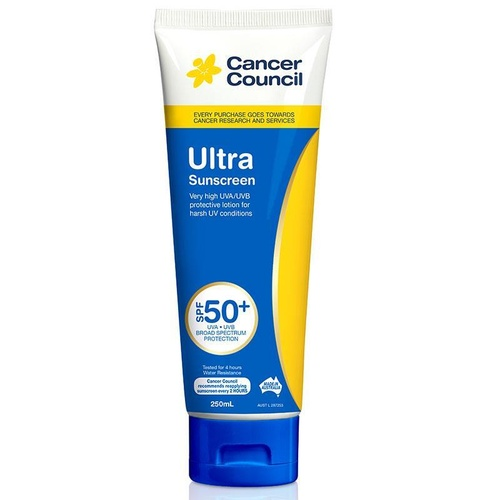 Cancer Council Ultra Sunscreen SPF50+ 250mL