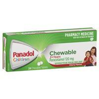 Panadol Children's Chewable 24 Tablets