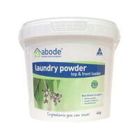 Abode Laundry Powder Front Top B.Mallee Eucalyptus 5kg Bucket