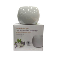 Aromamatic Vapouriser Electric Coral Shape White (2inOne)