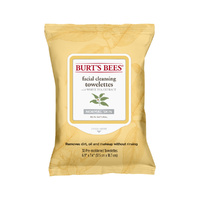 Burts Bees Facial Cleansing Towelettes (White Tea) x 30Pack