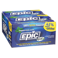 Epic Xylitol Dental Gum Peppermint 12pc Blister Pack x 12 Pk