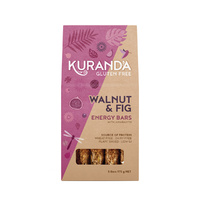 Kuranda Gluten Free Energy Bars Walnut & Fig 35g x 5 Pack