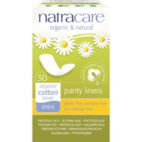 Natracare Panty Liners Mini with Organic Cotton Cover 30 Liners