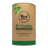 Raw Medicine Re-Energise Magnesium + Herbs & Superfoods (Wild Berry Flavour) 300g