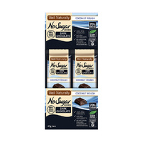 Well Naturally No Added Sugar Bar Dark Chocolate Coconut Rough 45g [Bulk Buy 16 Units]