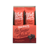 Well Naturally No Added Sugar Bar Dark Chocolate Rich Dark 45g [Bulk Buy 16 Units]