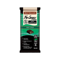 Well Naturally No Added Sugar Block Dark Chocolate Mint Crisp 90g