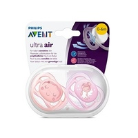 AVENT Ultra Air Soothers 0-6M Pack 2 - Images Will Vary