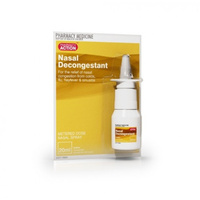 Pharmacy Action Nasal Decongestant Spray 20ml
