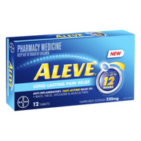 Aleve Long-Lasting Pain Relief 12 Tablets