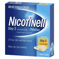 Nicotinell Step 3 Patches 7mg 24 Hours 7 Patches 1 Week Supply
