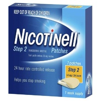 Nicotinell Step 2 Patches 14mg 24 hours 7 Patches 1 Week Supply