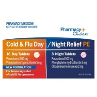 Pharmacy Choice Cold & Flu Day & Night Relief PE 24 Tablets