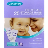 Lansinoh Breast Milk Storage Bags (25 Bags)