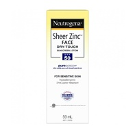 Neutrogena Sheer Zinc Face Dry Touch Suncreen Lotion SPF 50 59mL