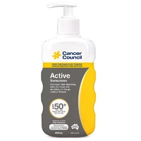 Cancer Council Active Sunscreen SPF50+ Pump 200mL