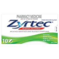 Zyrtec Hayfever 10mg 10 Tablets