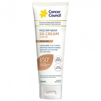 Cancer Council Face Day Wear BB Cream Matte SPF50+ Medium Tint 50mL