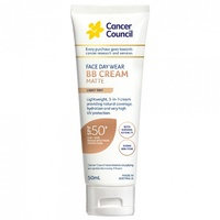 Cancer Council Face Day Wear BB Cream Matte SPF50+ Light Tint 50mL