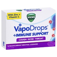 Vicks VapoDrops Immune Support Blackcurrent 16 Lozenges
