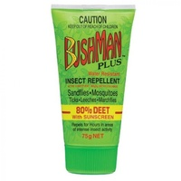 Bushman Plus 80% Deet with Sunscreen 75g