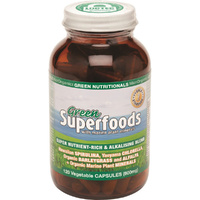 MicrOrganics Green Nutritionals Green Superfoods 600mg 120 Vegetable Capsules